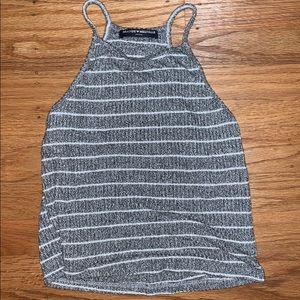 brandy melville gray and white tank top!!